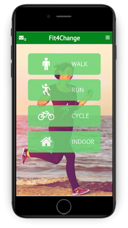 Fit4change App Activity Screen